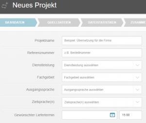 SimulTracker Neues Projekt DE